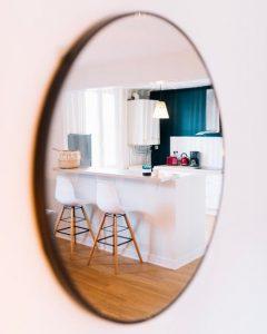 dust free clear mirror